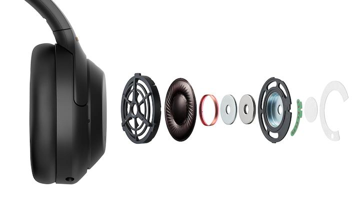 Góc nhìn chi tiết về các bộ phận bên trong tai nghe WH-1000Xm4