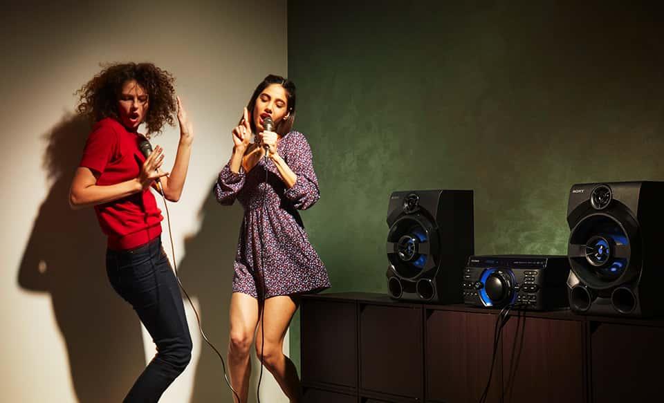 Hệ thống loa karaoke Bluetooth® 3 loa có đầu vào cho guitar | MHC ...