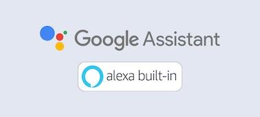 Logo Google Assistant và Alexa built-in