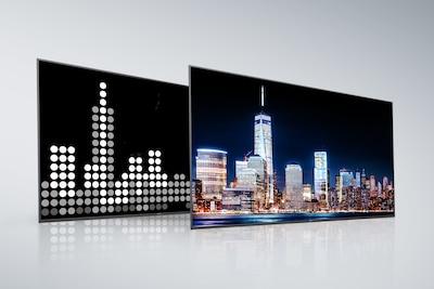 Mặt sau và màn hình của Full Array LED của Sony với X-tended Dynamic Range PRO