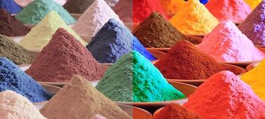 Hình ảnh cát màu thể hiện công nghệ Triluminos PRO