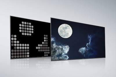 Mặt sau và màn hình của Full Array LED thông thường
