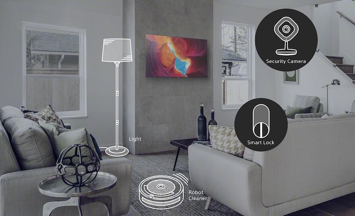 Cảnh phòng khách cho thấy cách Google Assistant tạo ra ngôi nhà thông minh hơn