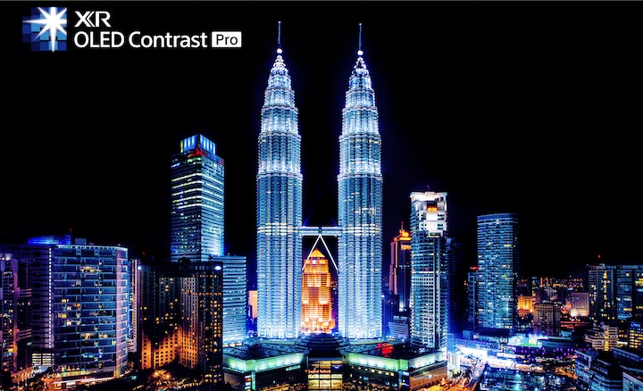 Cảnh quan thành phố thể hiện độ tương phản cực cao và chiều sâu chân thực