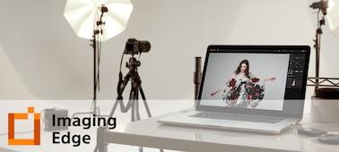 Hình ảnh tình huống của một studio có logo Imaging Edge Desktop