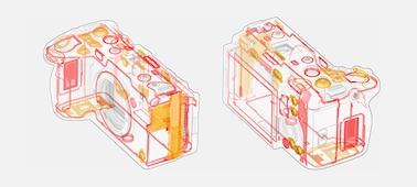 Hình ảnh cấu trúc máy với bộ phận bịt kín
