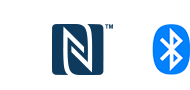 Logo NFC và Bluetooth® của WF-SP700N
