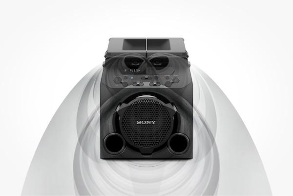 GTK-PG10 đóng nắp trên để âm thanh hướng ra phía trước