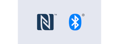 Logo NFC và Bluetooth