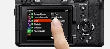 Hình ảnh chạm vào màn hình LCD để cài đặt menu