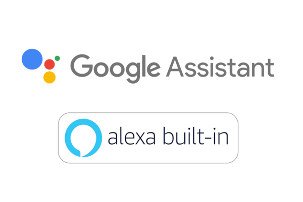 Logo Google Assistant và Amazon Alexa