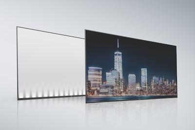 Mặt sau và tấm màn hình LCD chiếu sáng viền