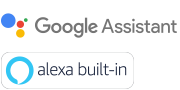 Logo Google assistant & Alexa built-in