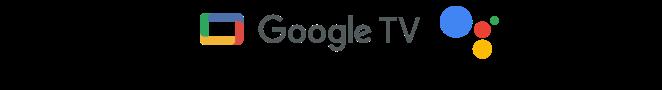 Logo Google TV và Google Assistant