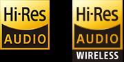Logo Âm thanh độ phân giải cao & Âm thanh độ phân giải cao không dây