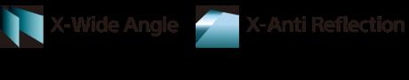 Logo X-Wide Angle và X-Anti Reflection