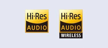 Logo Hi-Res Audio & Hi-Res Audio Wireless