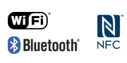 Logo WiFi NFC Bluetooth