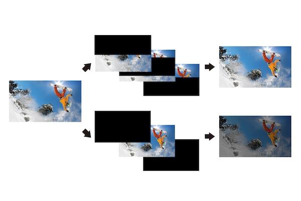 Hình ảnh xe chuyển động nhanh cực chi tiết với X-Motion Clarity