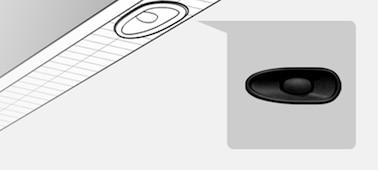 Hình ảnh thể hiện chi tiết vị trí của X-balanced speaker™