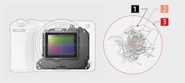 Hình ảnh cấu trúc của OpticalSteadyShot