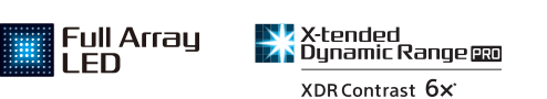 Logo Full Array LED và X-tended Dynamic Range