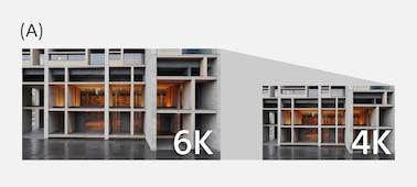 Hình minh họa giải thích rằng ZV-1 sử dụng dữ liệu tương đương 6K để sản xuất video 4K