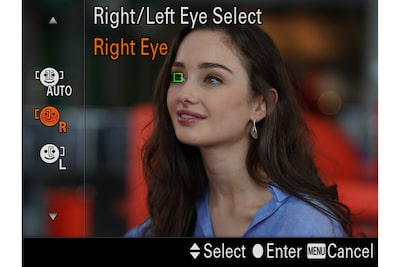 Right/left eye selection to meet your need